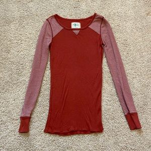 Free People Thermal Knit Long Sleeved Top